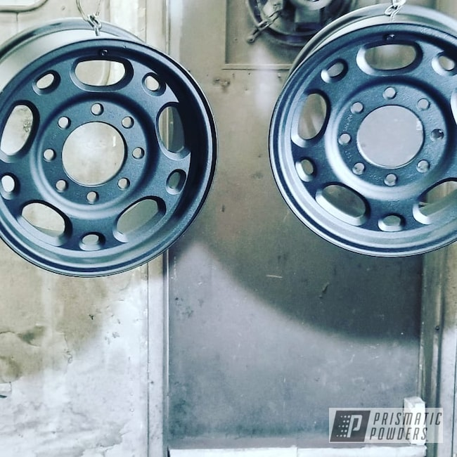 Powder Coating: Wheels,Automotive,Custom Rims,Black Cast PCS-4721