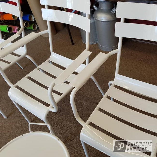 Powder Coating: Patio Chairs,Patio Furniture,Outdoor Decor,Lawn Chairs,Gloss White PSS-5690,Miscellaneous