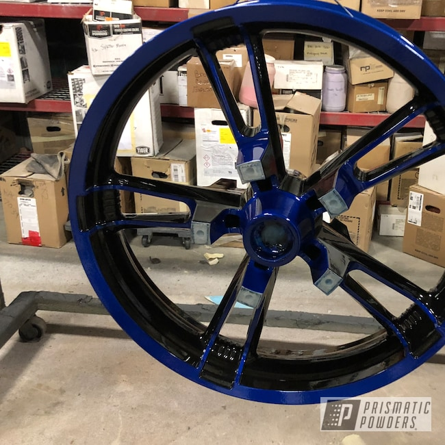 Powder Coating: Wheels,Motorcycle Rims,Peeka Blue PPS-4351,Motorcycles