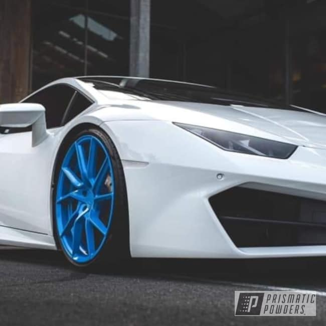 Powder Coated Blue Sports Car Wheels
