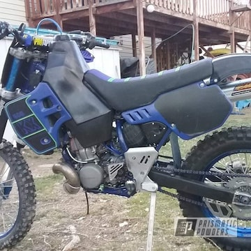 Powder Coated Blue Dirt Bike Frame And Parts