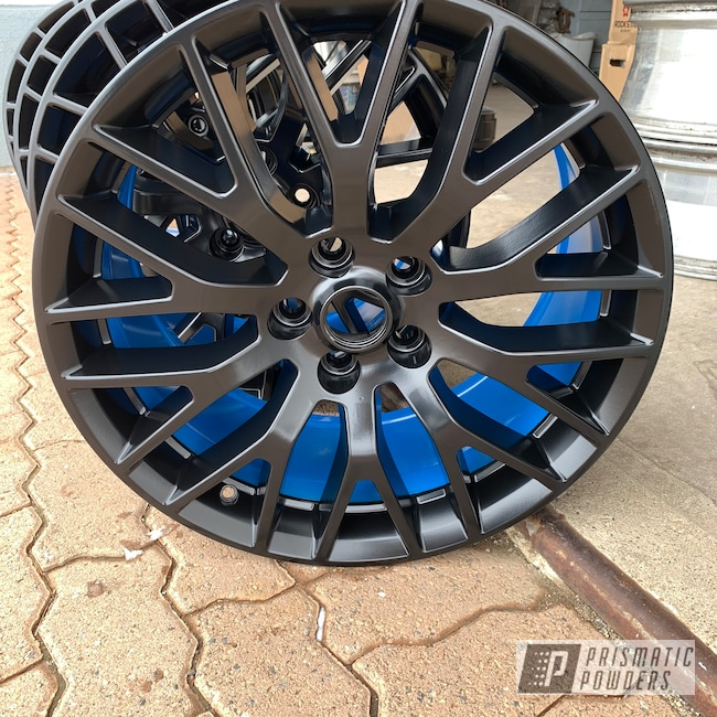Powder Coating: Wheels,Automotive,BLACK JACK USS-1522,Playboy Blue PSS-1715,Two Tone,Ford Mustang,Ford