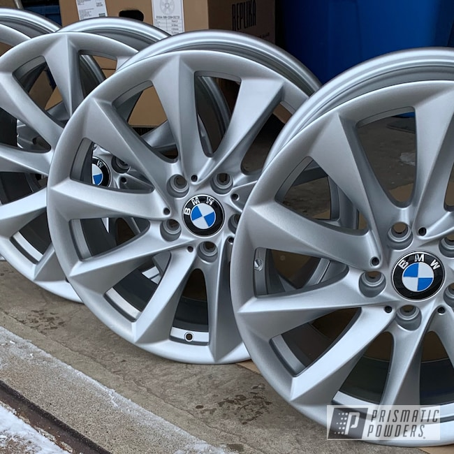 Powder Coating: Wheels,BMW Silver PMB-6525,Automotive,BMW