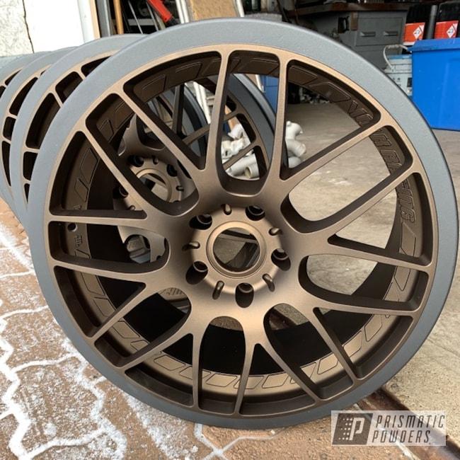 Powder Coating: Wheels,Automotive,Evo Grey PMB-5969,Bronze Chrome PMB-4124,Matte Finish,Two Tone,Casper Clear PPS-4005