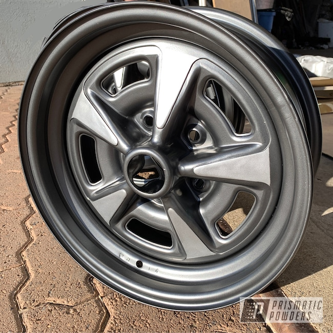 Powder Coating: Wheels,BMW Silver PMB-6525,Automotive,Ultra Charcoal PMB-5531,Two Tone,Pontiac