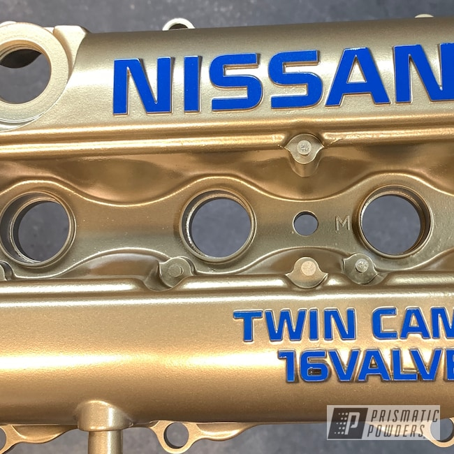 Powder Coating: Nissan,Poly Gold PMB-4211,Two Tone,Ford Dark Blue PSB-4624,Valve Cover