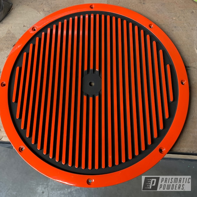 Powder Coating: Matte Black PSS-4455,Automotive,Edelbrock,Valve Covers,Air Cleaner Lid,Chevy Orange PSS-0163
