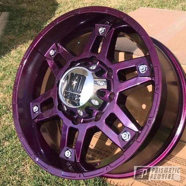 Powder Coating: Wheels,Automotive,Clear Vision PPS-2974,XD Wheels,KMC Wheels,Aftermarket,Illusion Malbec PMB-6906,KMC