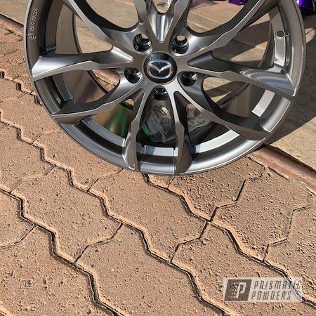 Powder Coating: Wheels,Automotive,Mazda,ULTRA BLACK CHROME USS-5204,Mazda Wheels