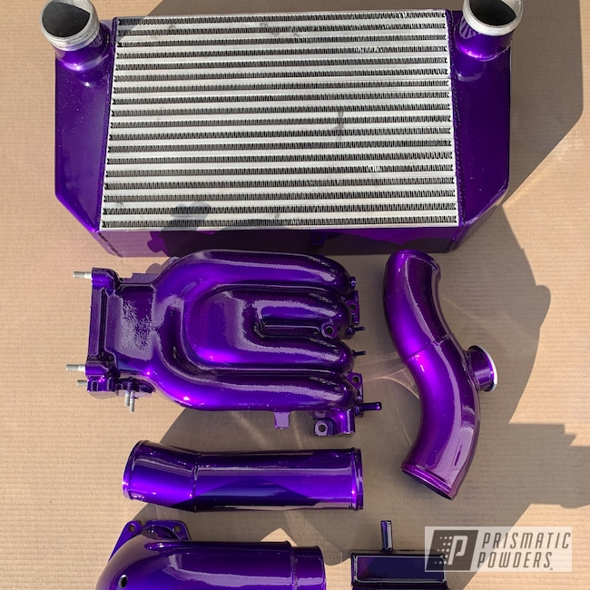 Powder Coating: Illusion Purple PSB-4629,Automotive,Clear Vision PPS-2974,RX7,Mazda,Engine Parts