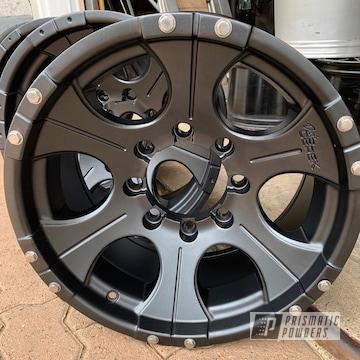 Powder Coated Black Dick Cepek Wheels