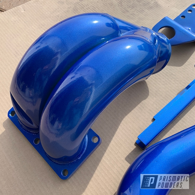 Dodge Cummins Parts Done In Clear Vision And Illusion Blue Berg Prismatic Powders