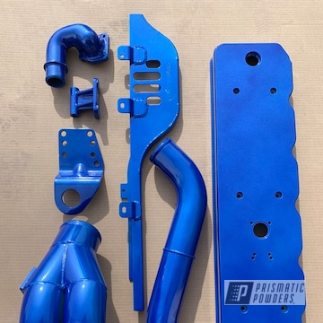 Powder Coated Blue Dodge Cummins Parts