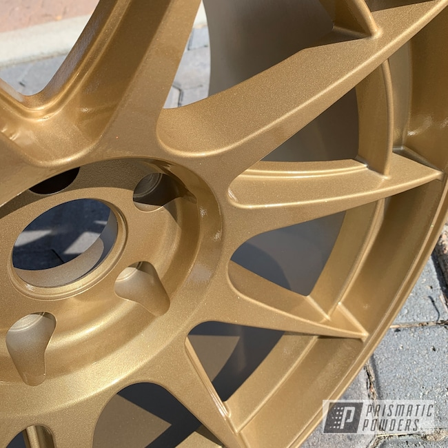 Powder Coating: Wheels,Automotive,Poly Gold PMB-4211,Subaru