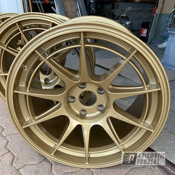 Powder Coated Gold Subaru Wheels