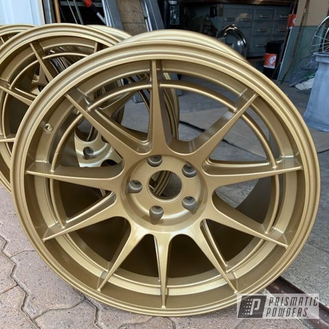 Powder Coated Gold Subaru Wheels