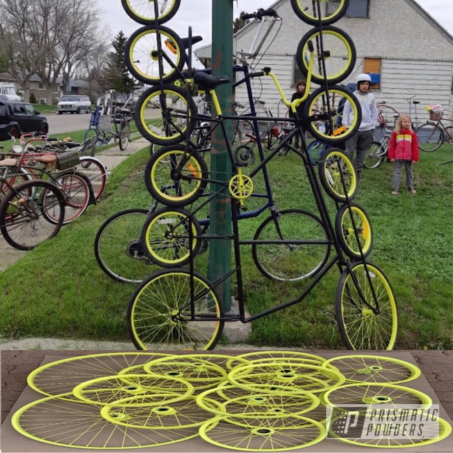 Powder Coating: Wheels,Bicycles,Lemon Yellow PSB-4852