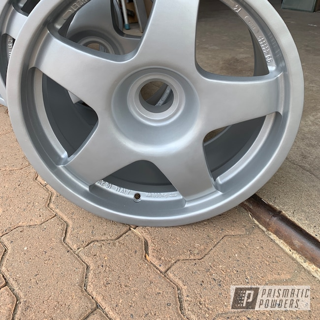 Powder Coating: Wheels,BMW Silver PMB-6525,Automotive,Ferrari