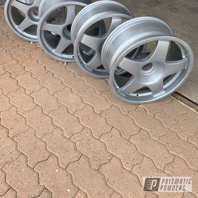 Powder Coating: Wheels,BMW Silver PMB-6525,Automotive,Ferrari