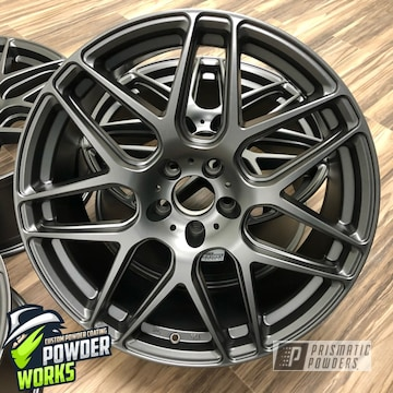 Powder Coated Grey Set Of Wheels