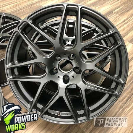 Powder Coating: Wheels,Automotive,Evo Grey PMB-5969,Solid Tone