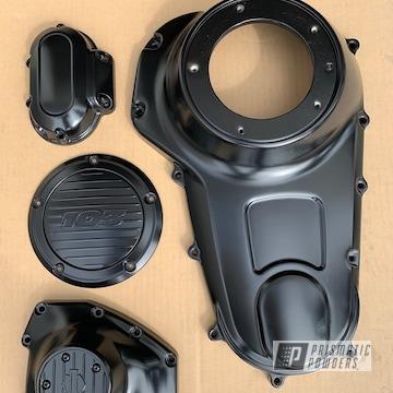 Powder Coated Black Harley Davidson Side Covers
