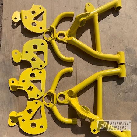 Powder Coating: Truck Parts,Automotive,Lemon Yellow PSB-4852,Suspension