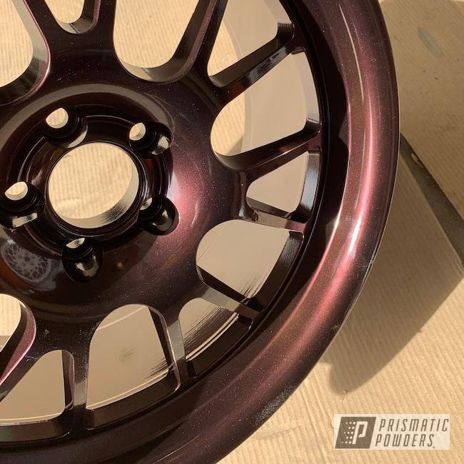 Powder Coating: Wheels,Automotive,Redford Burgundy PMB-1798,Aftermarket