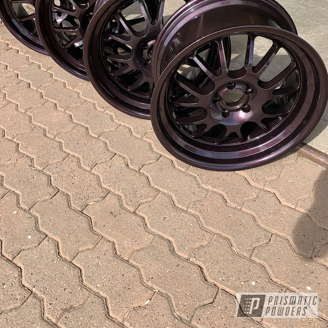 Powder Coating: Wheels,Automotive,Redford Burgundy PMB-1798,Aftermarket
