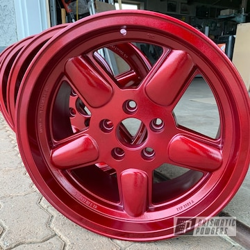 Powder Coated Custom Red Wheels