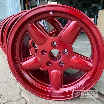 Powder Coated Custom Red Wheels