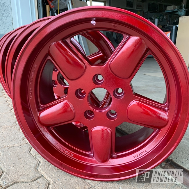 Powder Coating: Wheels,Automotive,Clear Vision PPS-2974,Illusion Red PMS-4515,Solid Tone