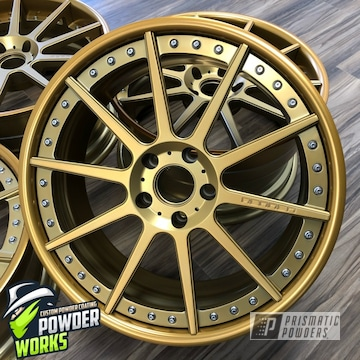 Powder Coated Gold Two Piece Wheels