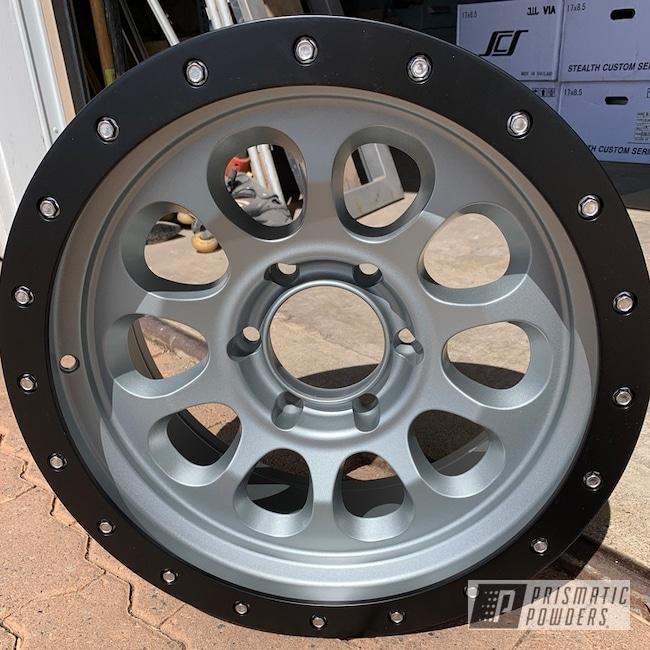 Powder Coating: Wheels,BMW Silver PMB-6525,Matte Black PSS-4455,Automotive,Two Tone,Aftermarket