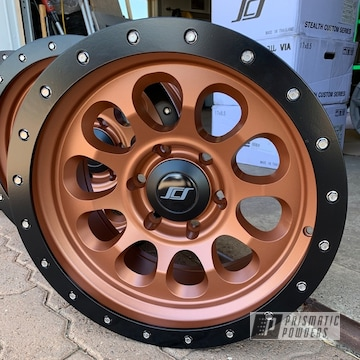 Powder Coated Black And Copper Truck Wheels