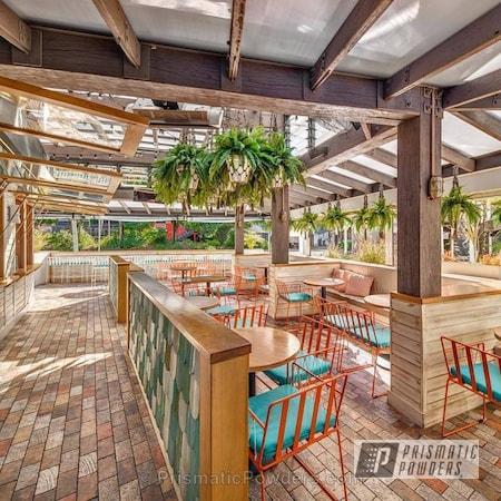 Powder Coating: Cafe,Russet Orange PMB-5227,Restaurant Furniture,Furniture