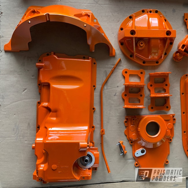Powder Coating: Automotive,Clear Vision PPS-2974,Chevy,Illusion Tangerine Twist PMS-6964