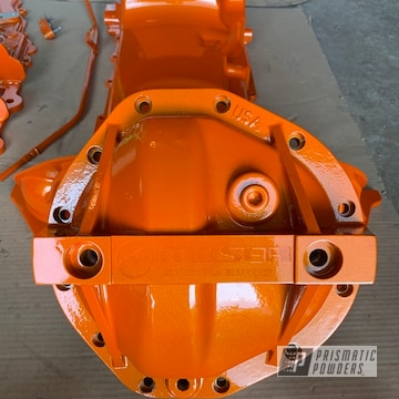 Powder Coated Tangerine Chevy Engine Parts