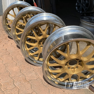 Powder Coated Chrome And Gold Aftermarket Wheels