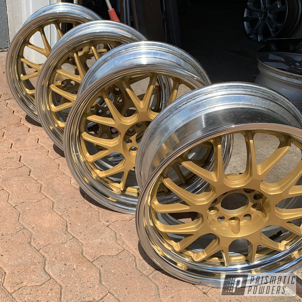 Two Tone Aftermarket Wheels finished with Adams Gold ...