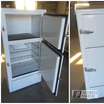 Powder Coated White 1920s Ice Box