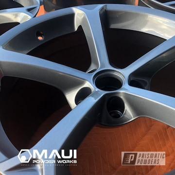 Powder Coated Grey Oem Chevy Corvette Wheels