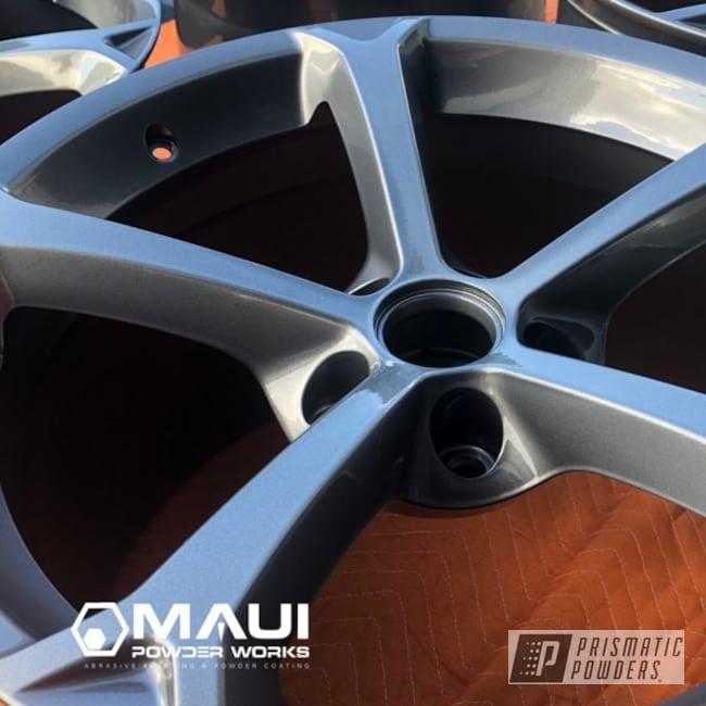 Powder Coated Grey Oem Chevy Corvette Wheels