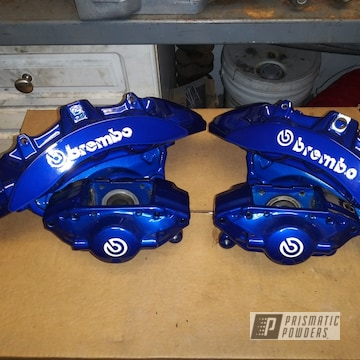 Powder Coated Blue Brembo Brake Calipers