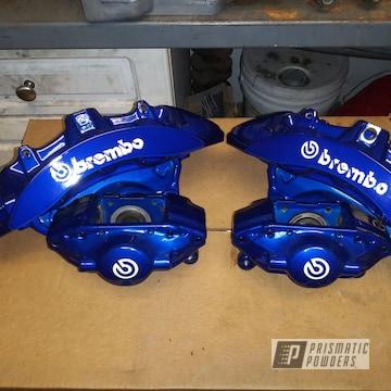 Powder Coated Blue Brembo Brake Calipers