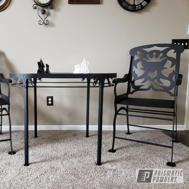 Powder Coating: Custom Furniture,Patio Furniture,GLOSS BLACK USS-2603,Outdoor Furniture,Black Cast PCS-4721,Decorative Furniture,Gloss White PSS-5690,Furniture