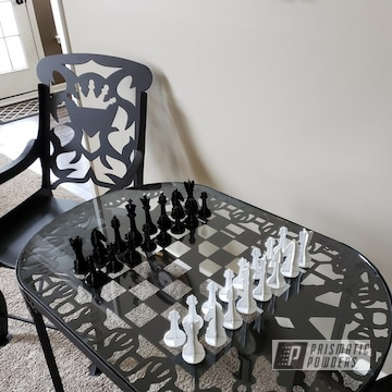 Powder Coated Furniture And Chess Set