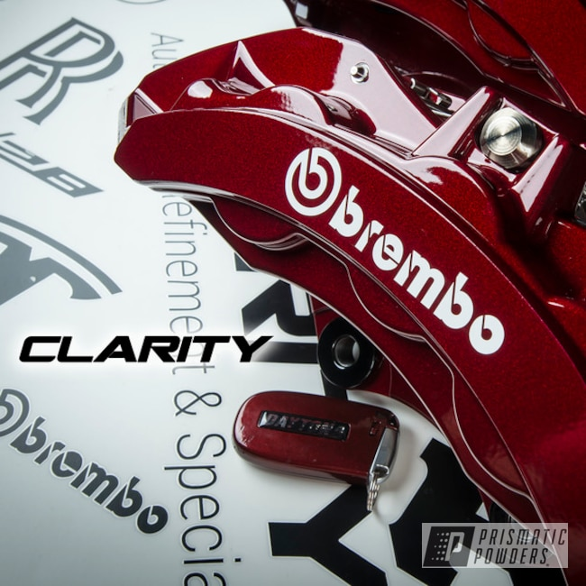 Powder Coated Cherry Red Dodge Challenger Brake Calipers