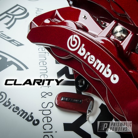 Powder Coating: Automotive,Clear Vision PPS-2974,Brakes,Dodge,Illusion Cherry PMB-6905,Challenger,brakecalipers,driveclarity