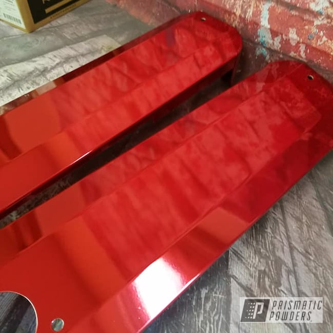 Powder Coating: Automotive,Transparent Powder Coating,LOLLYPOP RED UPS-1506,Valve Covers,Automotive Parts